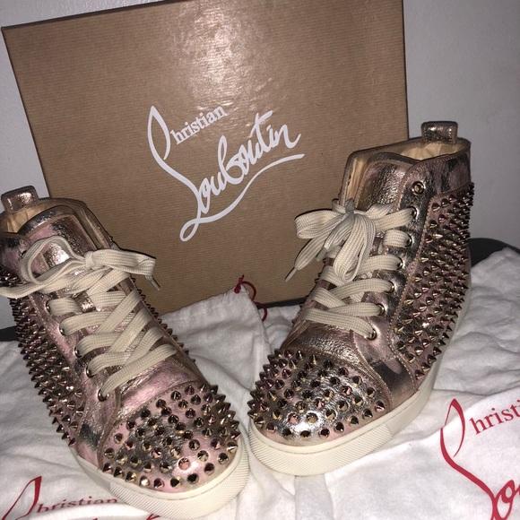 6410a96d1dd Louis Orlata spike flat high top sneakers